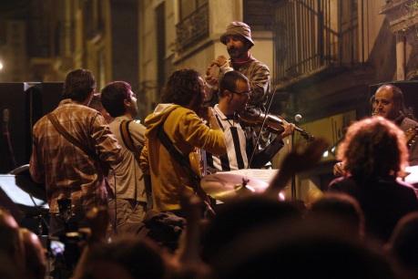 Tom Bombadil, el pasado sábado en medio de la multitud. Foto: Carme Ripollès.